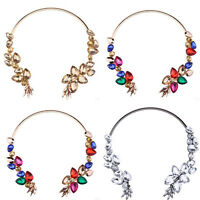 Fashion Jewelry Collars Pendant Crystal Choker Chunky Statement Chain Necklace