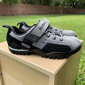 SHIMANO SH-MT40 Mountain Touring Cycling Shoes Black/Gray Size US 10 EU 44