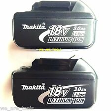 2 NEW 18V GENUINE Makita Batteries BL1830 3.0 AH 18 Volt For Drill, Saw, Grinder