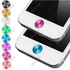 Colorful Home Button Sticker Decal Aluminium Metal Round For iPhone 4/4S 5 iPad
