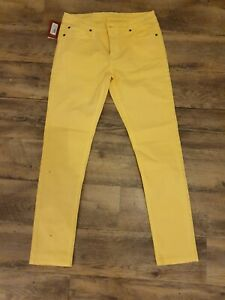 Rm williams womens yellow jeans size 12 new with tags