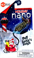 HEXBUG Nano Special Christmas Holiday Edition Pull Santa's Sleigh Sealed