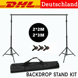 2×2/3M Photography Studio Background Support Stand Backdrop Photo Stativ Kit Bag