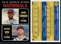 2019 Topps Heritage Black Border RC #154 Jimmy Cordero / Adam Voth Nationals