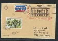 FALKLAND ISLANDS  (P0312B) 1983 INCOMING PSC FROM USA SHORT PAID AND TAXED 5P SO