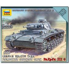 ZVEZDA 6119 German Tank Panzer III Snap Fit Model Kit 1:100