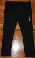 Womens Black Workout Pants with White Trimmings - Lorna Jane - Size S