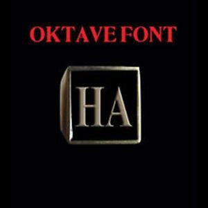 Solid Bronze HA Motorcycle Club Letter biker Ring Oktave font Custom size