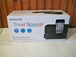 NEW Memorex Ultra Portable Travel Stereo Speaker iPhone 5 / iPod MA3122BK