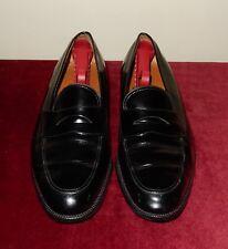 Salvatore Ferragamo Black Patent Leather Penny Strap Loafers Shoes Size 10B