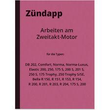 Zündapp DB 202 Comfort Norma Elastic 250 175 200 S 201 Trophy SE Bella Anleitung