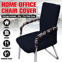 2Size Elastic Stretch Computer Chair Cover Office Swivel Rotating Seat Slipcover