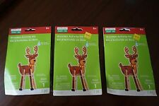 Lot of 3 Children's Wooden Activity Kits Reindeer Christmas by Creatology NEW