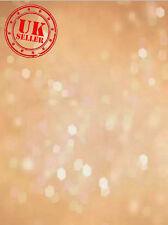 SALE SPARKLE BOKEH LIGHTS PEACH BABY BACKDROP VINYL PHOTO PROP 5X7FT 150x220CM