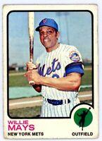 WILLIE MAYS 1973 Topps #305 New York NY Mets Baseball Card HOF