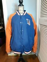 Genuine ORIGINAL Detroit Tigers Soft Shell Jacket Baseball MLB Bomber Button-Up