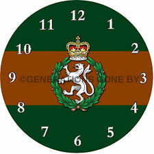 WOMEN'S ROYAL ARMY CORPS GLASS WALL CLOCK