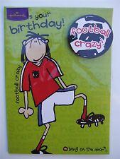 Football crazy birthday card (bang on the door) by Hallmark