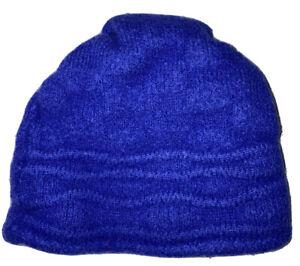 Vtg Boys Wigwam Blue Wool Beenie Skully USA Blue