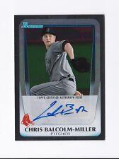 2011 Bowman Draft Prospect Autographs #CBM Chris Balcolm-Miller Auto Red Sox