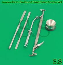 Amalgam Carrier Gun Cement Mixing Spatula Amalgam Well Pot Dental Lab