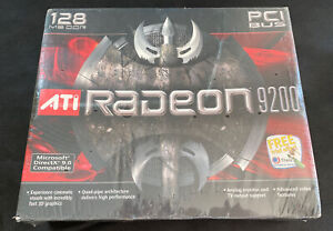 Sealed ATI Radeon 9200 128 MB DDR PCI Video Card Power Macintosh or PC or Amiga