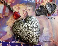 xxl art deco kette medaillon nostalgie Herz steampunk retro Liebe vintage foto
