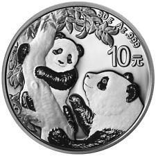 China - 10 Yuan 2021 - Panda - Anlagemünze - 30 gr Silber ST