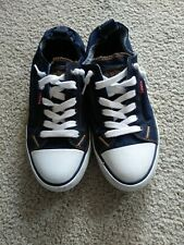 Womens Levis Slide On Navy Tennis Shoes Size 9. Great Condition