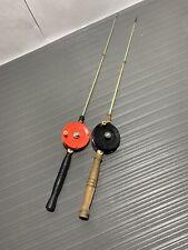 2 Vintage--Swish-Rod -Deep Water- Ice Fishing Rod and Reel-