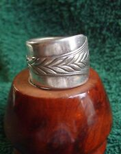Heavy Antique Sterling Silver Spoon Ring Size 7 - 17.1 Gr. Norway 1920's