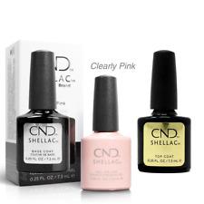 CND Shellac Top Coat,Base Coat, Clearly Pink 3 x 7,3ml