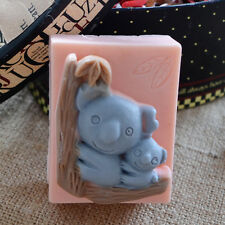 Oblong Koala Baby Soap Mould Flexible Silicone Resin Mold Polymer Clay R0039