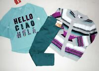 Gymboree Girls Hello Tee Sweater Cargo Pants Size 4 NWT