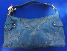 Isabella Fiore Blue Designer Purse and Matching Wallet