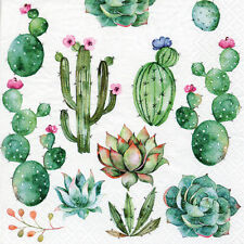 20 x Cactus & Succulent Plants Napkins  3 Ply Quality Serviettes Mexican Fiesta