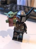 STAR WARS The Mandalorian+Child (BABY YODA) Minifigure CUSTOM Lego MOC