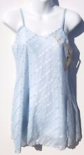 Vintage Sasson Intimates Blue Babydoll Nightgown Gown Lingerie New Old Stock