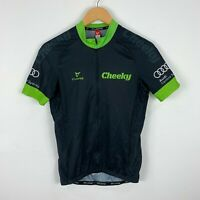 Cuore Mens Cycling Jersey Size Small Full Zip Short Sleeve Cheeky Velosport Audi