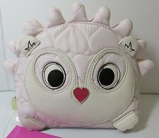 Betsey Johnson Cosmetic Bag Makeup Bag Pink Hedgehog Quilted Zipper NWT $48