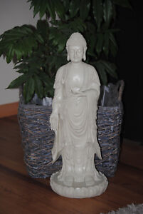 Großer XXL Buddha beige Grau  Figur Feng Shui  Neu 60 cm TOP