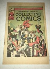 Marvel Comics Group The Marvel Guide to Collecting Comics No 1 1982