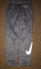 Boys Nike Grey White Swoosh Dri-Fit Jogger Style Athletic Pants Youth Medium