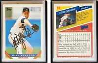Mike Stanton Signed 1993 Topps #88 Card Atlanta Braves Auto Autograph