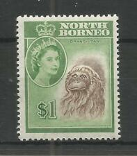 NORTH BORNEO 1961 $1 BROWN & YELLOW-GREEN DEFINITIVE SG,403 M/MINT LOT 7499A