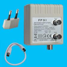 Amplificador de antena 2x15db Cable Distribuidor DVB-C DVB-T BK unitymedia