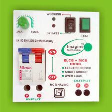 Electronic Shock Guard -32A  ELCB + MCB + RCCB