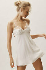 BHLDN Rya Collection Charming Bridal Wedding Chemise Lingerie Lace Sequin Size S