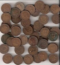 INDIAN PENNY ROLL OF 50 COINS - MIXED CIRCULATED DATES