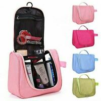LARGE TRAVEL FOLDING TOILETRY ORGANISER HANGING WASH BAG MAKE UP COSMETIC CASE